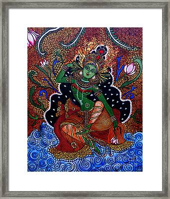 Framed Print featuring the painting Apsara by Saranya Haridasan