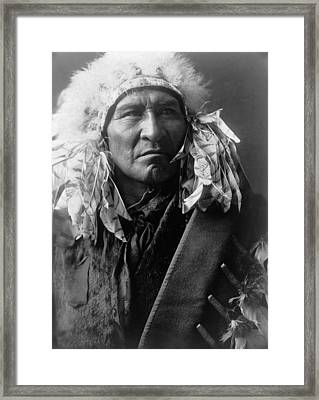 Apsaroke Indian Man Circa 1908 Framed Print