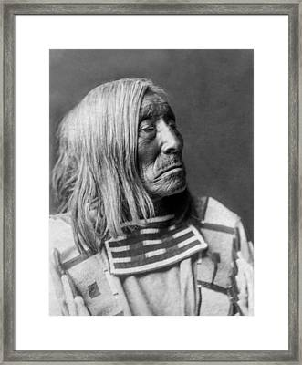 Apsaroke Native Indian Circa 1908 Framed Print by Aged Pixel