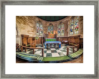 Apse Windows Framed Print by Adrian Evans