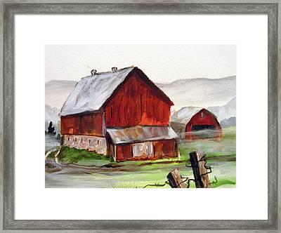 Apulia Farm Barn Framed Print by Carol Hart