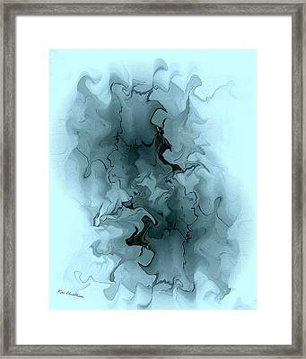 Aqua Abstract Framed Print by Kae Cheatham
