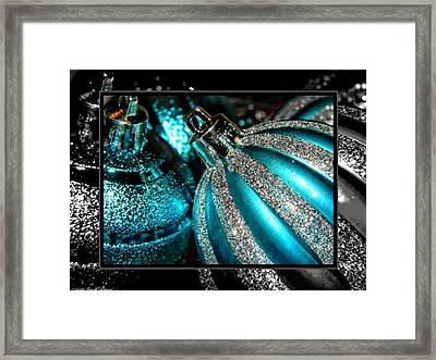 Aqua Baulbs Framed Print