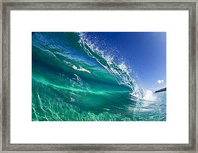 Aqua Blade Framed Print by Sean Davey