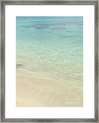 Aqua Blue Waters Framed Print