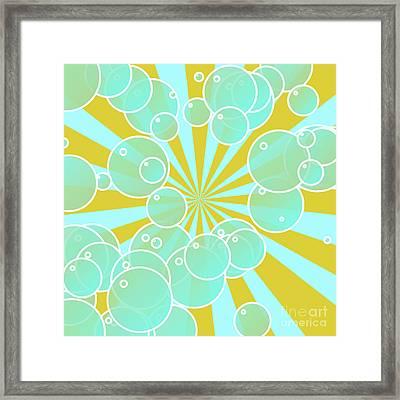 Aqua Bubbly Art Framed Print