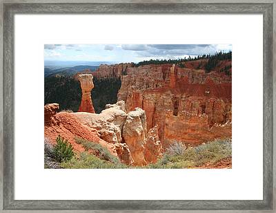 Aqua Canyon II Framed Print by Mary Gaines