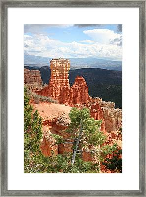Aqua Canyon IIi Framed Print by Mary Gaines
