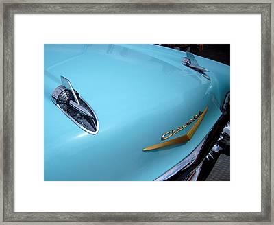 Aqua Chevy Framed Print by Don Struke