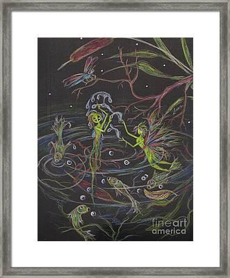 Aqua Framed Print by Dawn Fairies