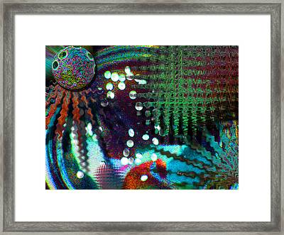 Framed Print featuring the mixed media Aqua Dish by Carl Hunter