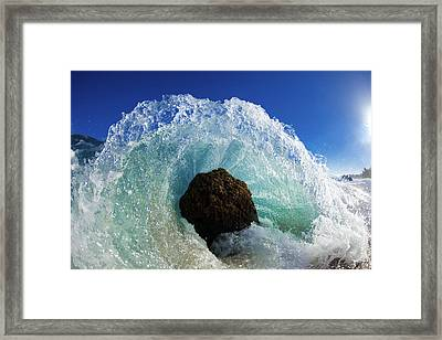 Aqua Dome Framed Print by Sean Davey