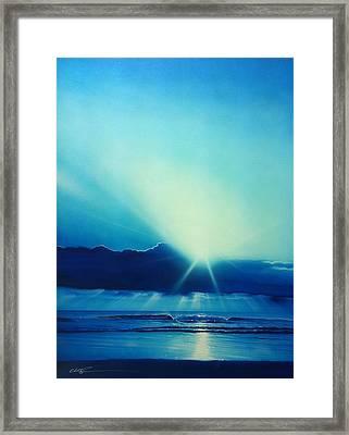 Ocean - ' Aqua Earth ' Framed Print by Christian Chapman Art