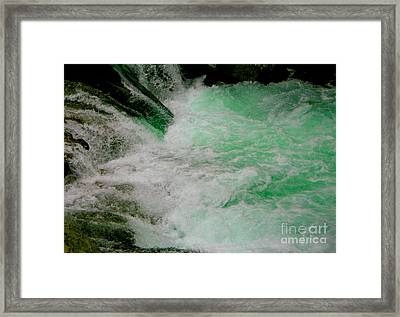 Aqua Falls Framed Print by Rich Collins