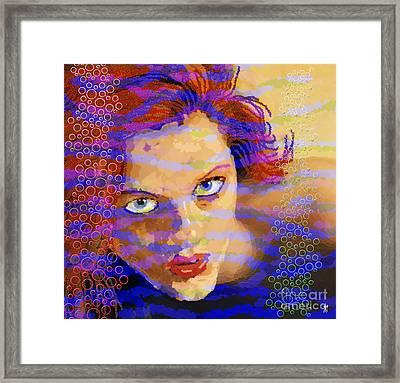 Aqua Girl Framed Print by Neil Finnemore