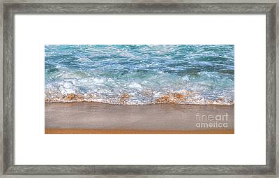 Aqua Glow - Wave Panorama Framed Print by Kaye Menner