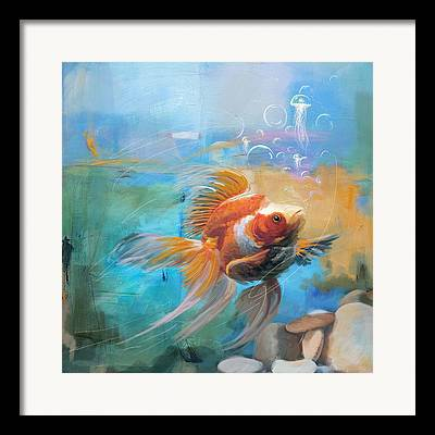 Goldfish Framed Prints