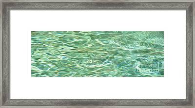 Aqua Green Water Art 2 Framed Print by Kaye Menner