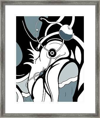 Aqua Grid Framed Print by Craig Tilley