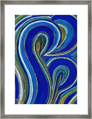 Aqua In Motion IIi Framed Print by Carla Sa Fernandes