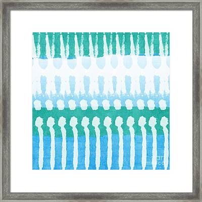 Aqua Framed Print by Linda Woods
