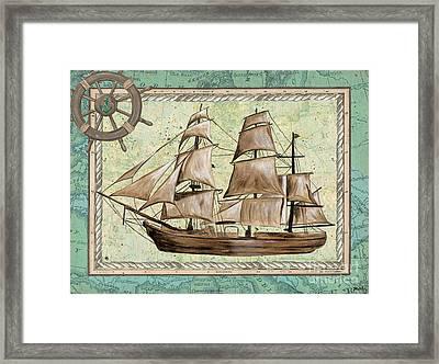 Aqua Maritime 1 Framed Print by Debbie DeWitt