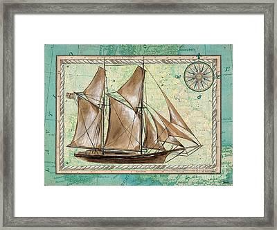 Aqua Maritime 2 Framed Print by Debbie DeWitt