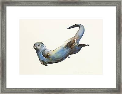 Aqua Framed Print by Mark Adlington