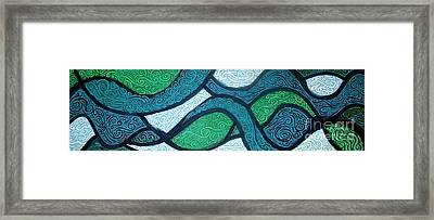 Aqua Motion Framed Print by Genevieve Esson