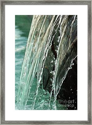 Aqua Opaque Framed Print by Michael Hoard