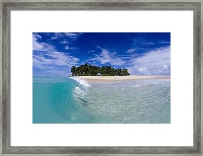 Aqua Peel Framed Print by Sean Davey