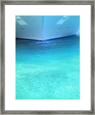 Aqua Framed Print by Randall Weidner