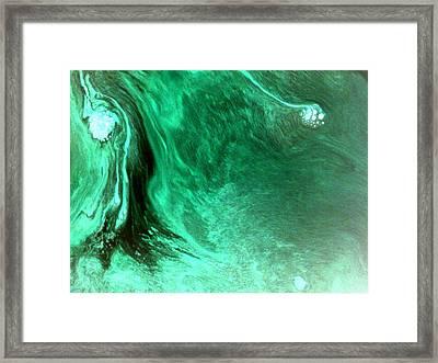Aqua Tree Framed Print by Salman Ravish