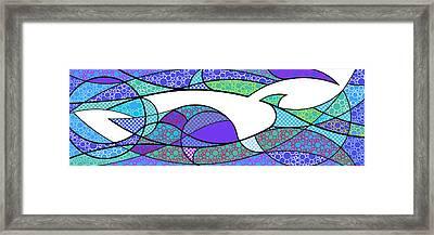 Aqua Seltzer Framed Print