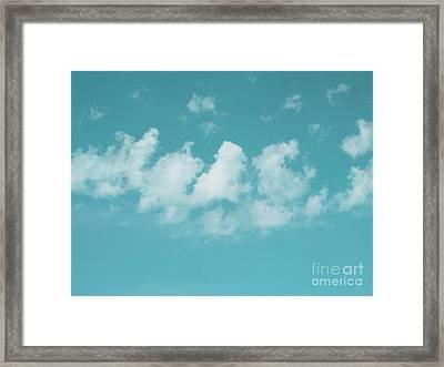 Aqua Sky Meditation Framed Print by Irina Wardas