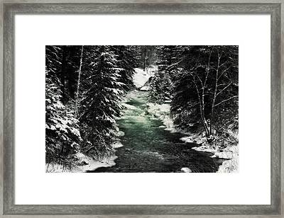 Aqua Stream Framed Print