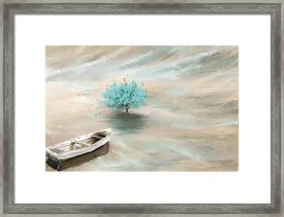 Aqua Tree Of Life Framed Print