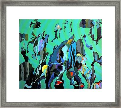 Framed Print featuring the painting Aqua Vida Fini by Bernard Goodman
