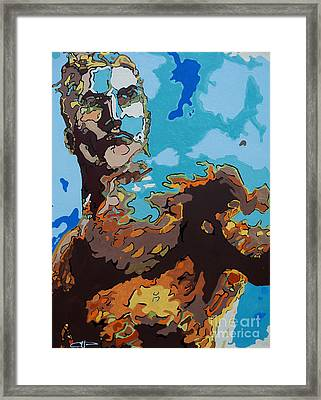 Aquaman - Reflections Framed Print by Kelly Hartman