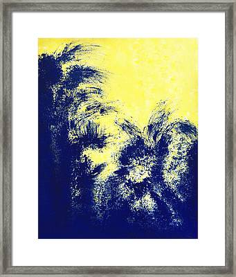 Aquamarine Blue Painting Framed Print