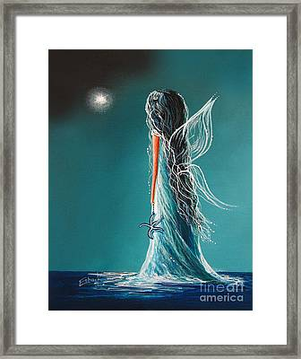 Aquamarine Fairy By Shawna Erback Framed Print by Shawna Erback