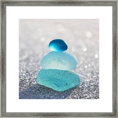 Aquamarine Ice Light Framed Print