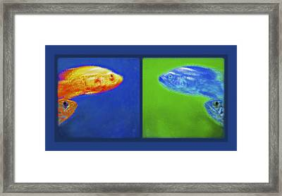Aquarium Art Diptych Framed Print by Steve Ohlsen