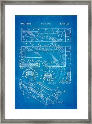 Aquarium Bath Patent Art 1982 Blueprint Framed Print by Ian Monk