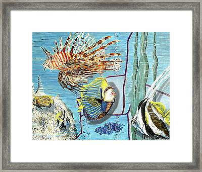Framed Print featuring the painting Aquarium by Daniel Janda