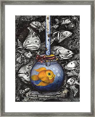 Aquarium In The Ocean Framed Print by Daniela Yordanova