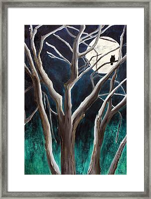 Aquarius Moon Large Painting By Jaime Haney Framed Print by Jaime Haney