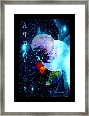 Aquarius Sign Of The Zodiac Framed Print by Sherri's - Of Palm Springs