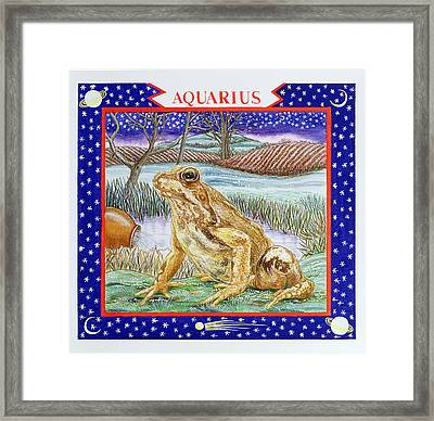Aquarius Wc On Paper Framed Print