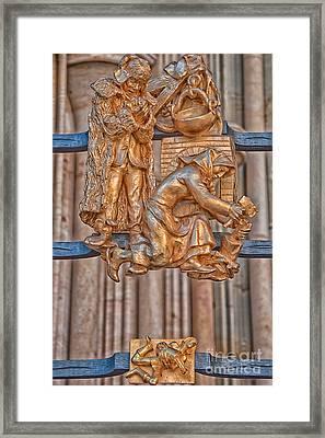 Aquarius Zodiac Sign - St Vitus Cathedral - Prague Framed Print